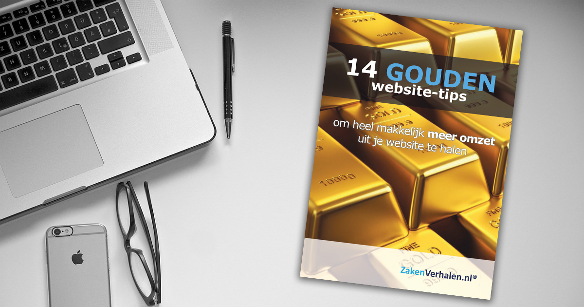 "Gratis e-book ""14 gouden website-tips"""