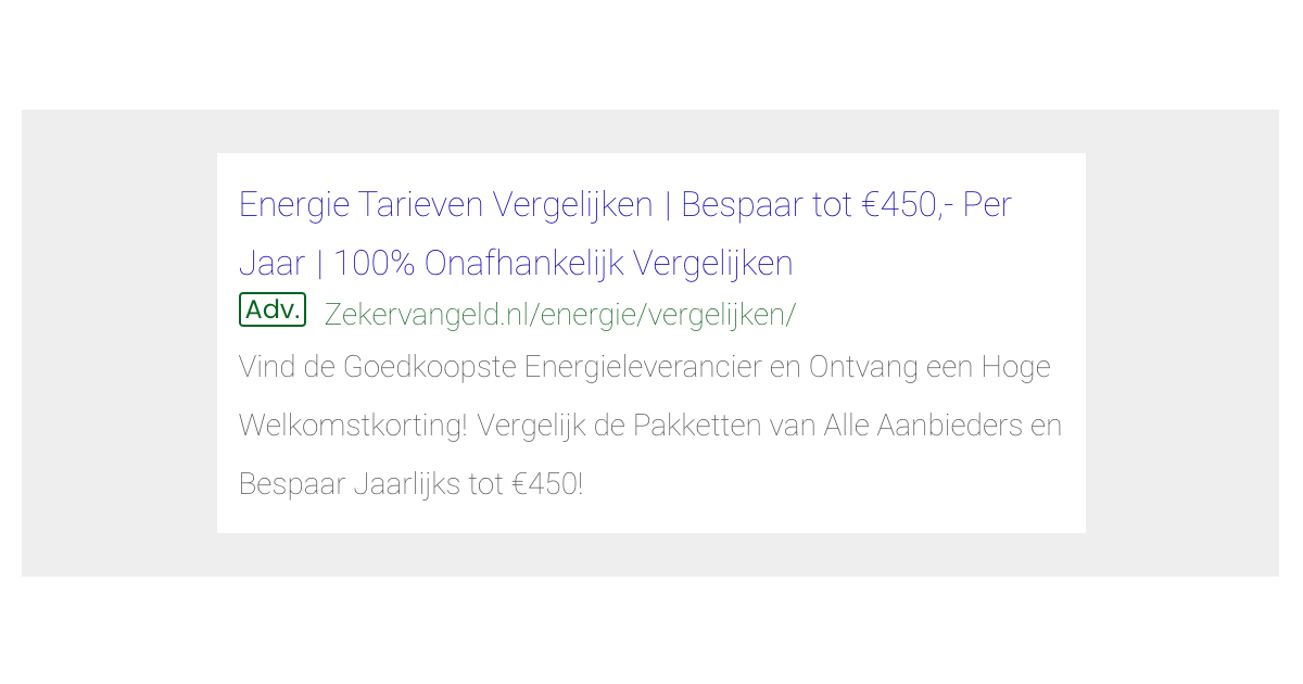 Google Ads voorbeeld